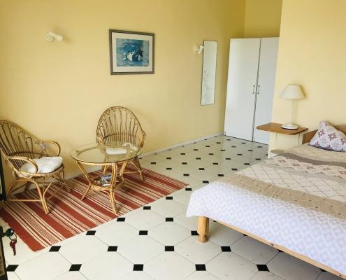 Inside bungalow
